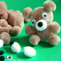 Make Your Own Pom Pom Teddy Bear - Classpack