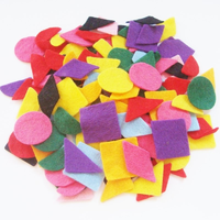 Small Felt Pieces Geometric Shapes