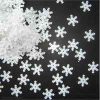 White Snowflake Sequins