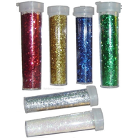 Small Glitter Shakers Mixed Colour Set