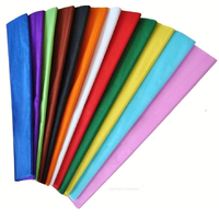 12 Assorted Coloured Crepe Paper Folds