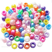 Pearlised Pony Beads for Hair Braiding