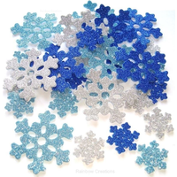 Craft Foam Glitter Snowflakes