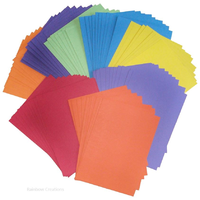 100 A4 Sheets of Coloured Card