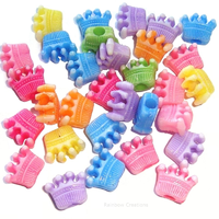 Plastic Crown Shaped Beads