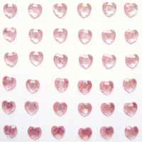 Self Adhesive Pink Heart Gems