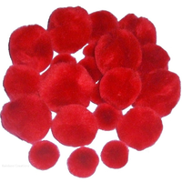 Red Pom Poms For Craft