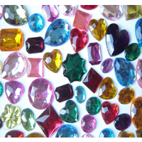 Large Flat Backed Acrylic Gems