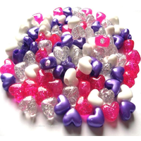 Heart Shaped Pony Beads