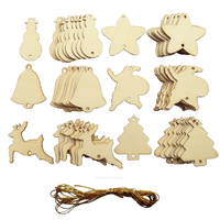 Plain Wooden Christmas Tree Decorations