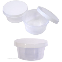 Mini Plastic Storage Pot With Lid