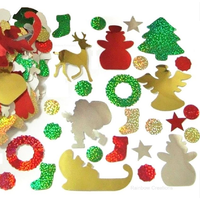 Bulk Bag of Foil Christmas Stickers