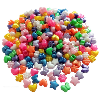 Mixed Shaped Pony Beads Bulk Bag