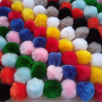 30mm Craft Pom Poms Single Colour