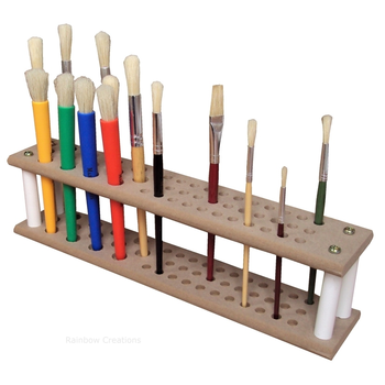 Wooden Paint Brush Stand