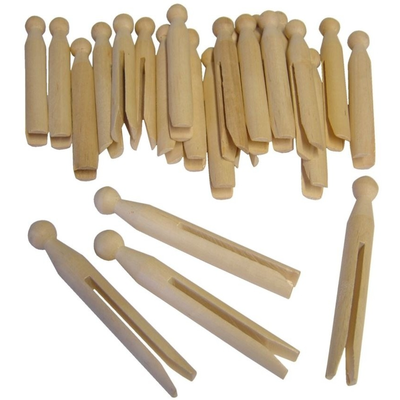 Wooden Dolly Pegs Pack of 24