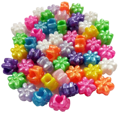 Flower Shaped Pony Beads for Children