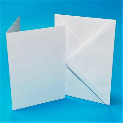 "Blank White Cards And Envelopes 5"" x 7"""
