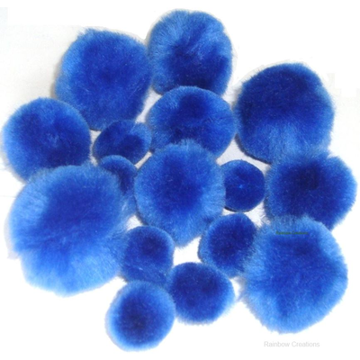 Royal Blue Pom Poms