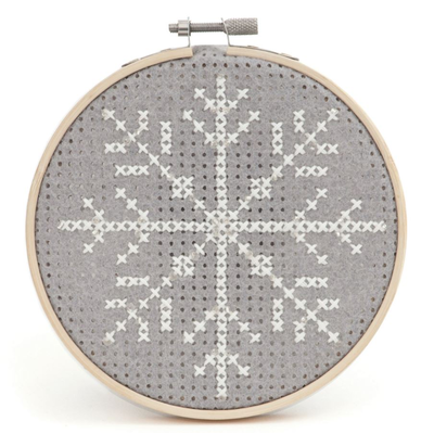 Felt Cross Stitch Hoop Kit for Beginners