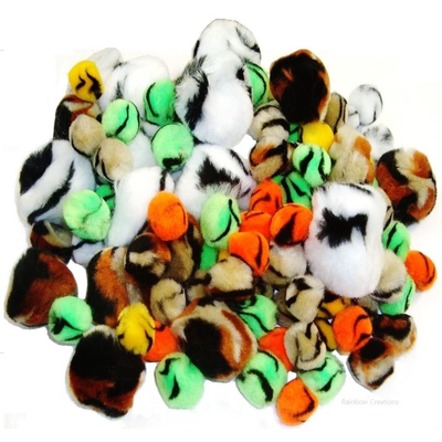 Animal Design Pom Poms