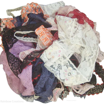 Bundle of Lace Off Cuts