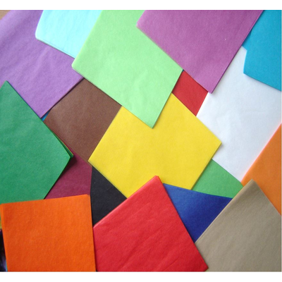 Assorted Coloured Tissue Paper Squares