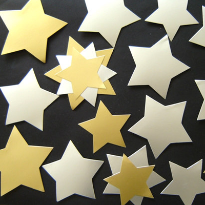 Gold and Silver Stars Card Cut Outs Assorted