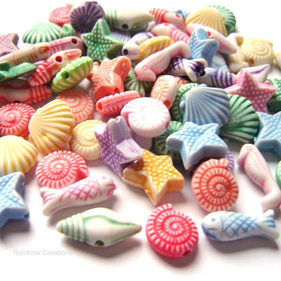 Sealife Beads - Children's Acrylic Beads
