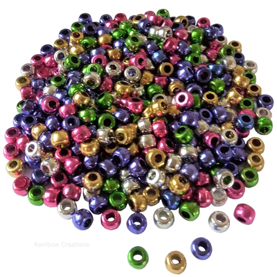 Metallic Pony Beads Bulk Bag